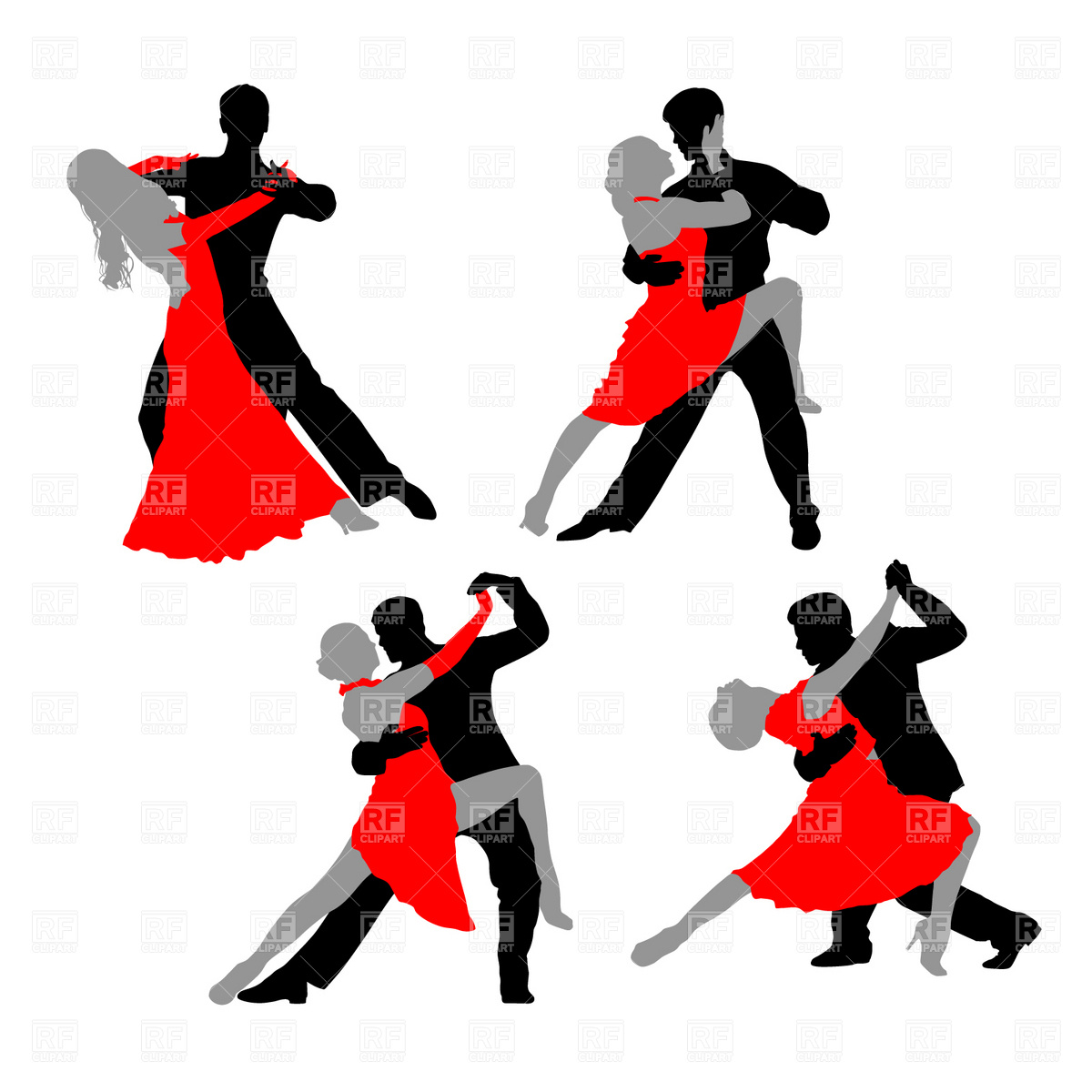 Dancing Couple   Tango 4692 Download Royalty Free Vector Clipart