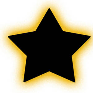 Description  This Free Clipart Picture Shows A Glowing Black Star  The