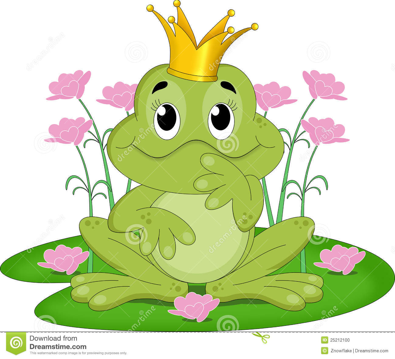 Fairy Tale Frog Clipart Fairytale Frog King