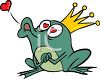 Fairy Tale Frog Clipart Frog Prince Wearing A Gold