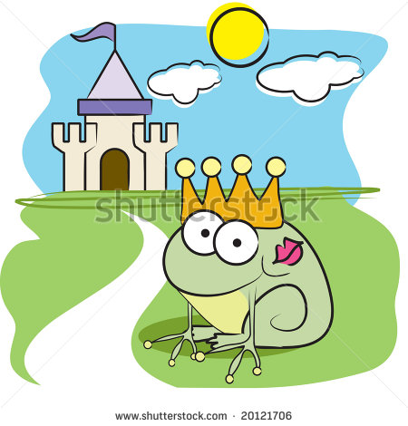 Fairy Tale Frog Clipart Vector Frog Prince With Fairy