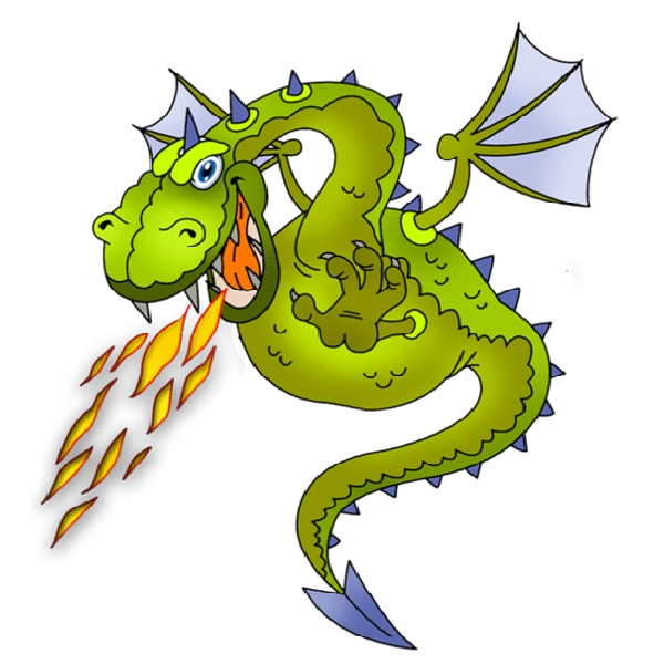 Fire Breathing Dragon Clip Art Car Pictures