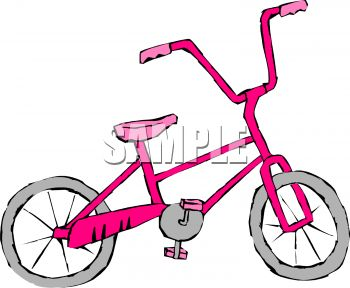 Girl S Bike   Royalty Free Clipart Image