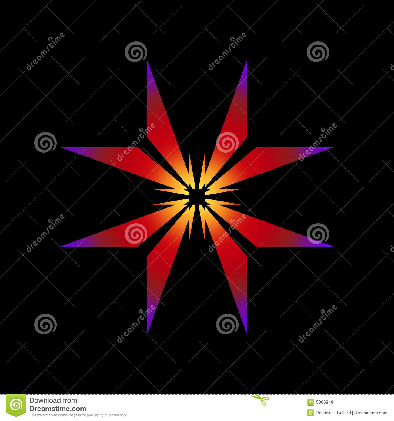 Glowing Star Abstract Royalty Free Stock Photos   Image  5006848