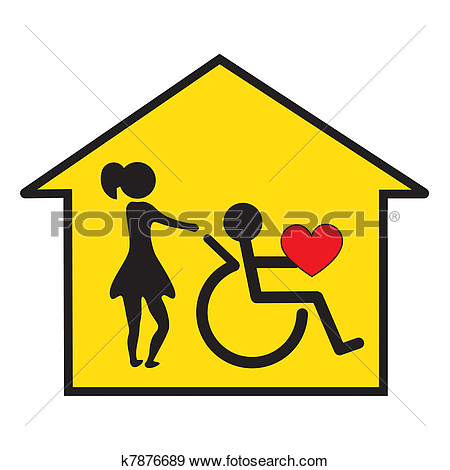 Home Health Care And Support  Fotosearch   Search Vector Clipart