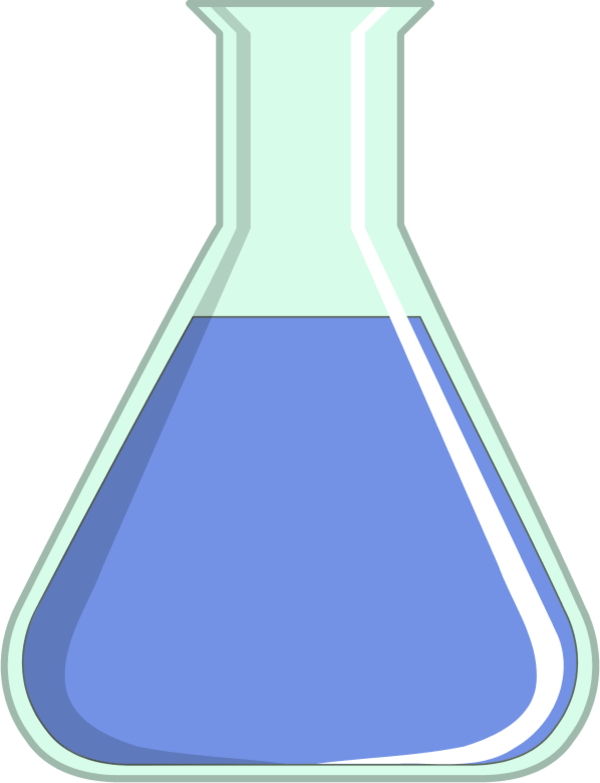 Laboratory Flask   Vector Clip Art