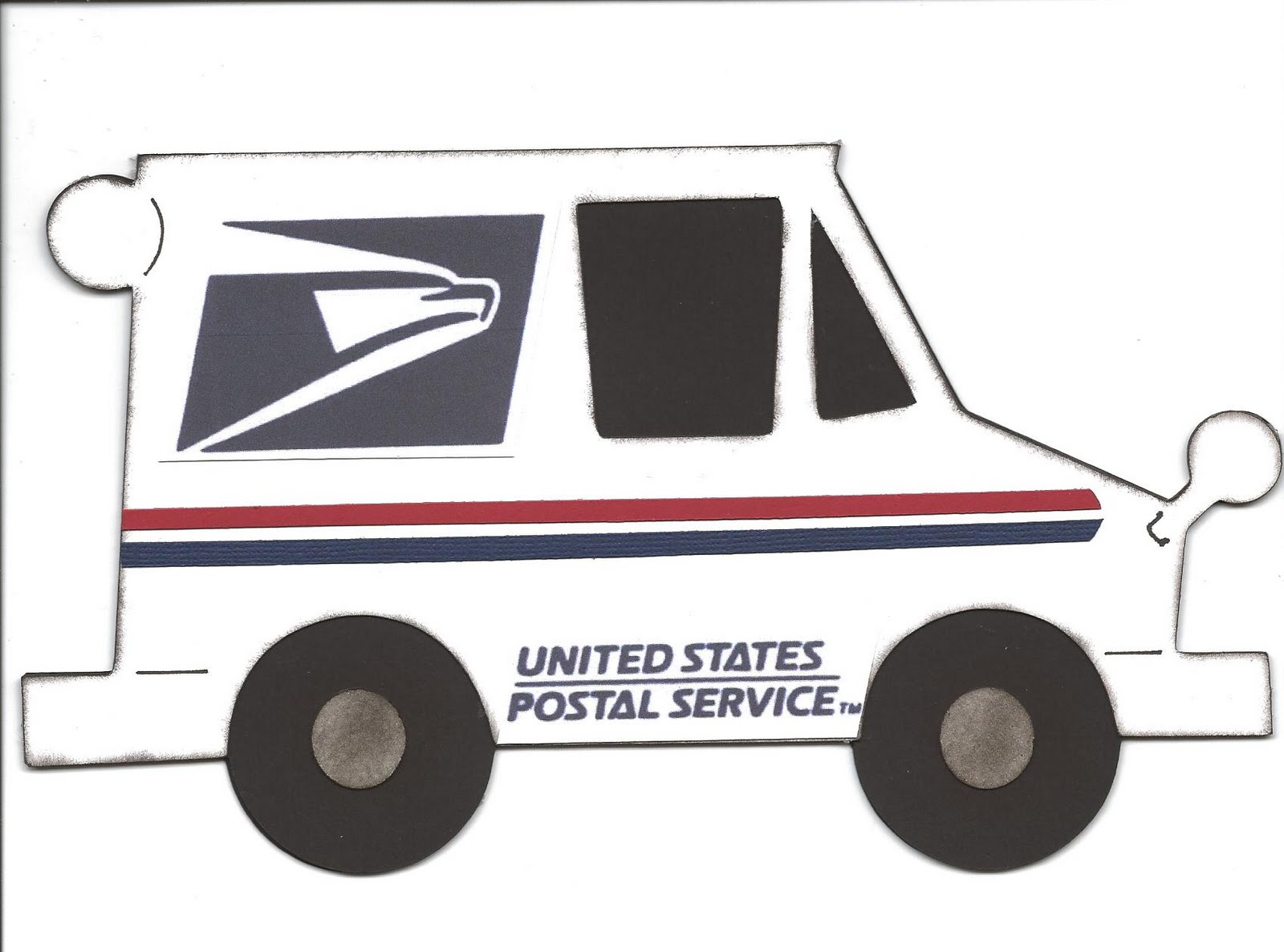 mail truck coloring pages - photo#31