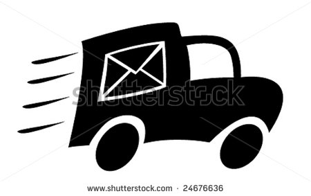 Mail Truck Clip Art Mail Truck   Stock Vector