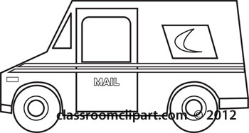Mail Truck Clipart Download Postal Truck Outline