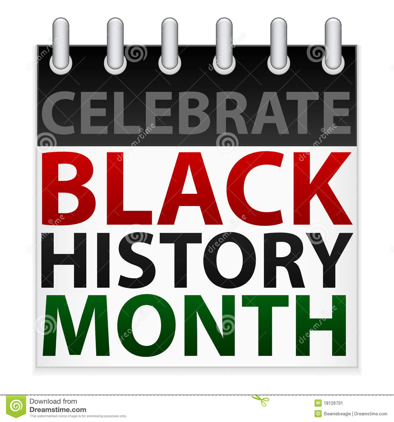 Of A Calendar Icon In Celebration Of Black History Month In February