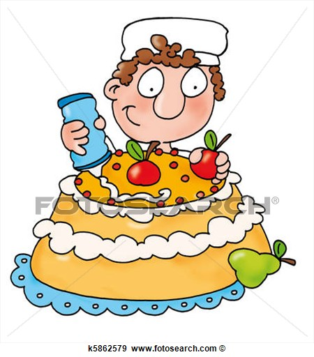 Delicious Cake Clipart : Pastry- Vector Clipart - Clipart Suggest