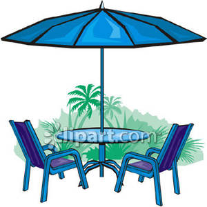 Patio Furniture Royalty Free Clipart Picture