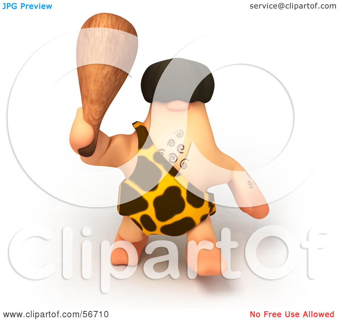 Royalty Free  Rf  Clipart Illustration Of A 3d George Caveman