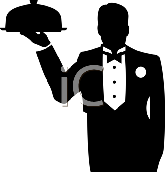 Royalty Free Waiter Clip Art Occupations Clipart