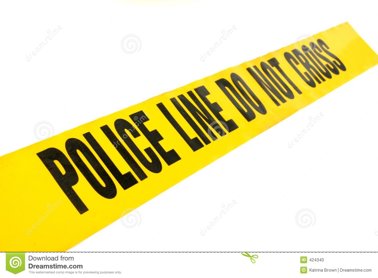 Stock Photo  Police Line Crime Tape