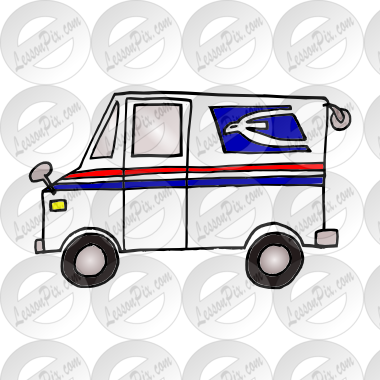 Truck Picture For Classroom   Therapy Use   Great Mail Truck Clipart