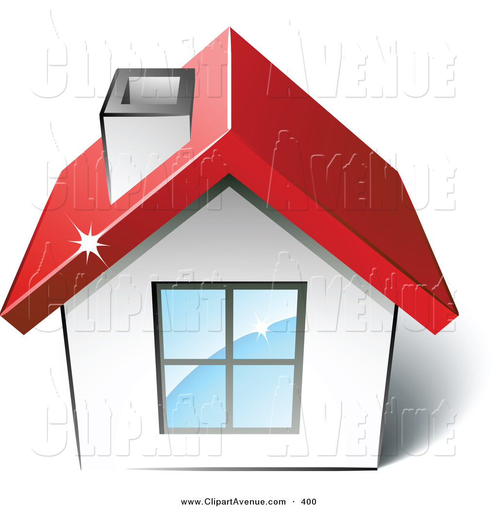 Avenue Clipart Of A Pre Made Logo Of A New House With A Red Roof And