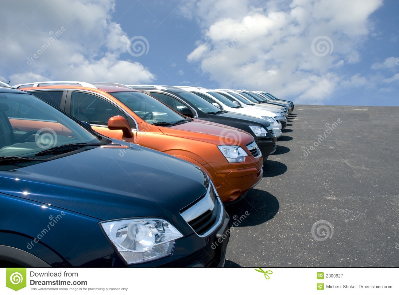 Car Lot Royalty Free Stock Photography   Image  2800627