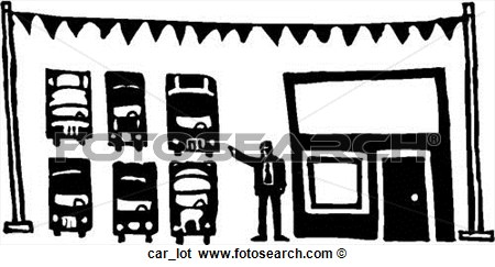 Clip Art Of Car Lot Car Lot   Search Clipart Illustration Posters