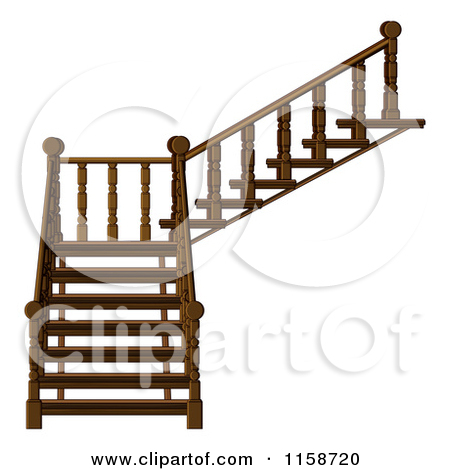 Clipart Of A Staircase 2   Royalty Free Vector Illustration By