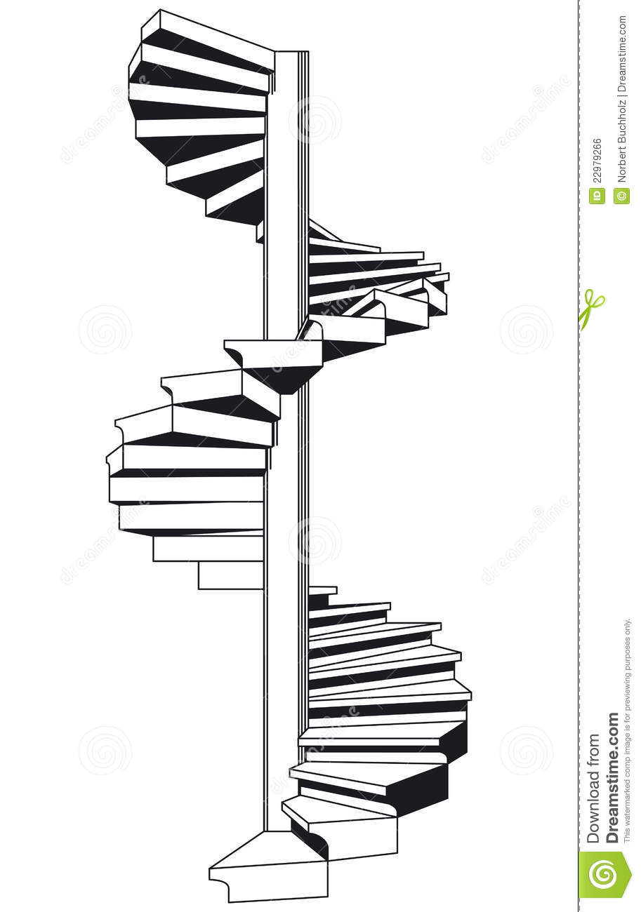 Clipart Staircase Spiral Staircase Illustration