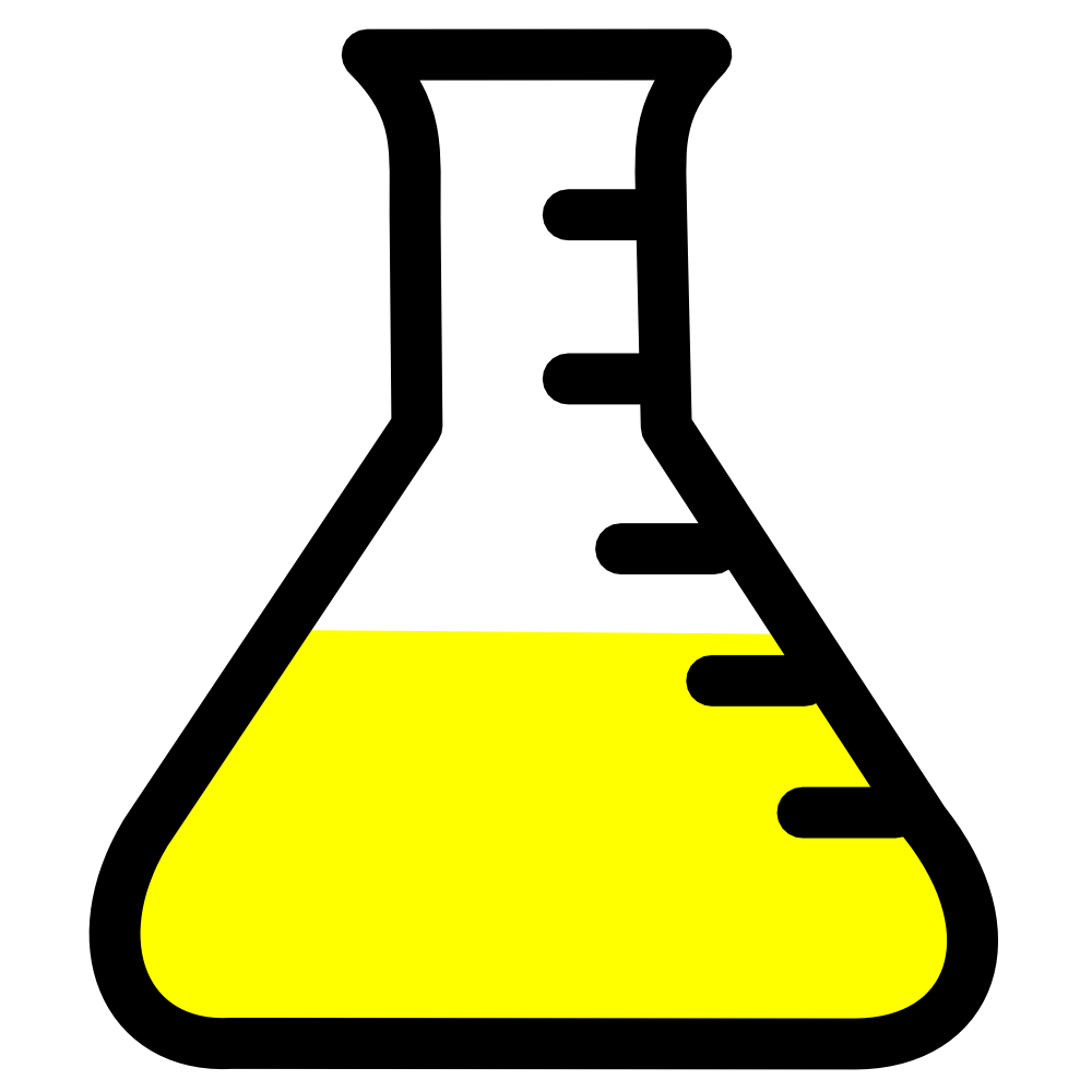 Lab Icon   Flask With Yellow