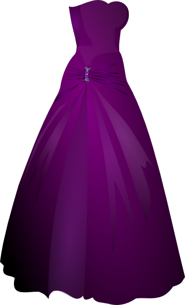 Purple Gown Clip Art At Clker Com   Vector Clip Art Online Royalty