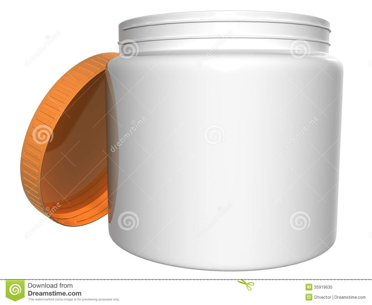 Round Plastic Container Lid Open Raster Royalty Free Stock Photo