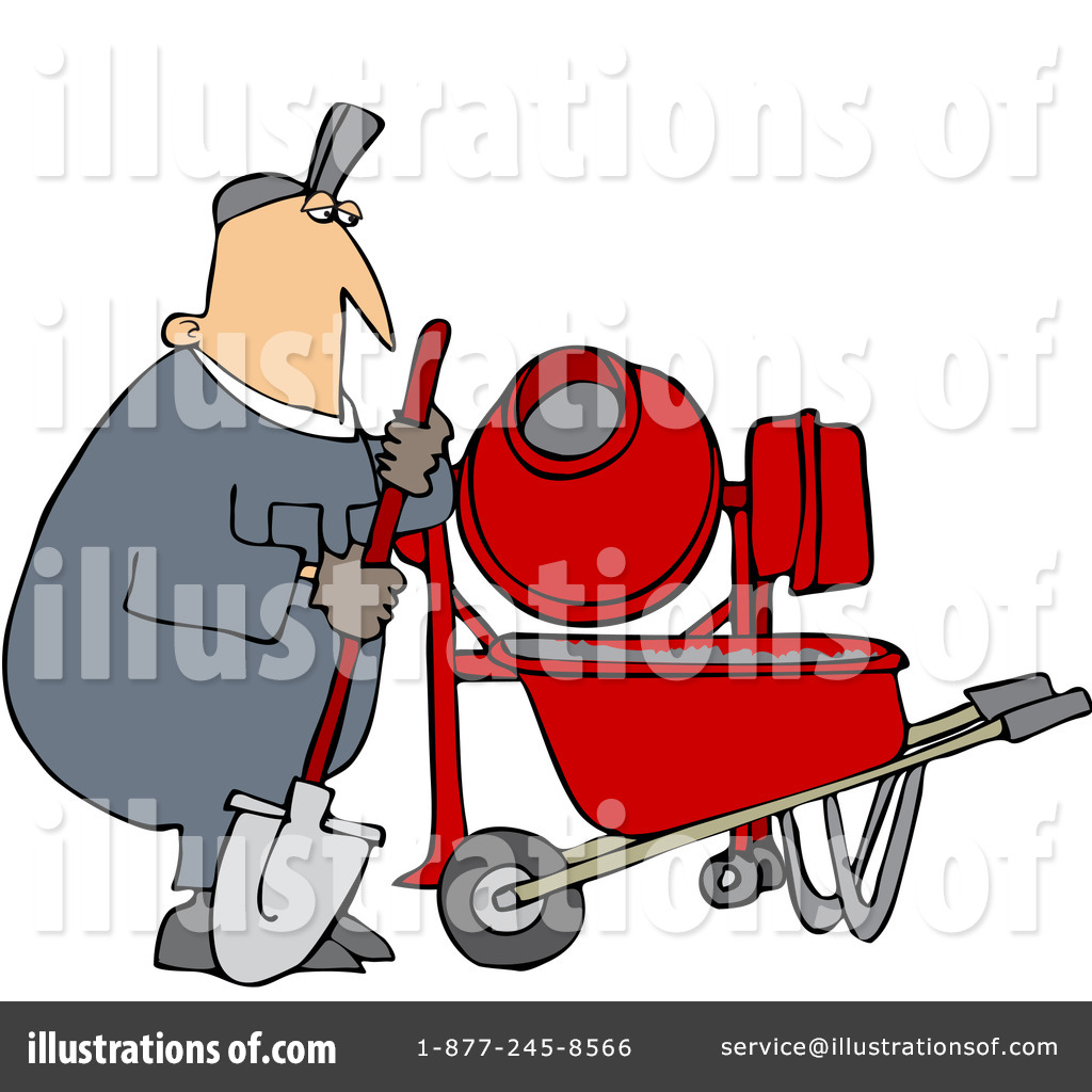 Royalty Free  Rf  Cement Mixer Clipart Illustration By Djart   Stock