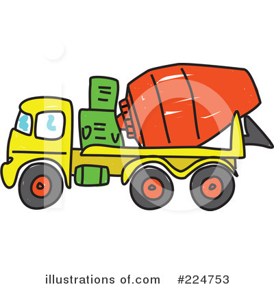Royalty Free  Rf  Cement Mixer Clipart Illustration By Prawny   Stock