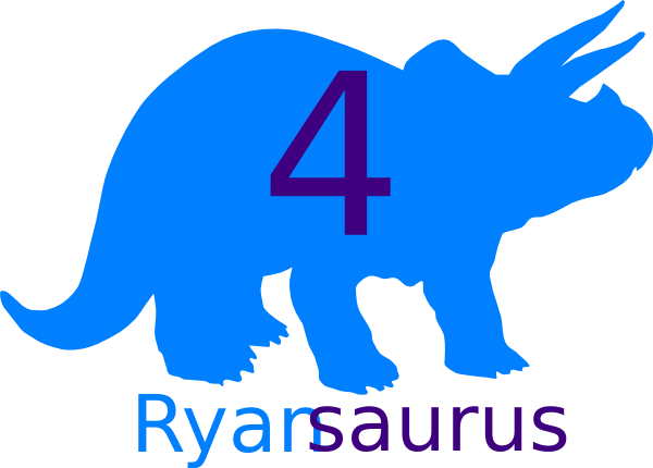 Ryan 4 Dino Final Clip Art At Clker Com   Vector Clip Art Online