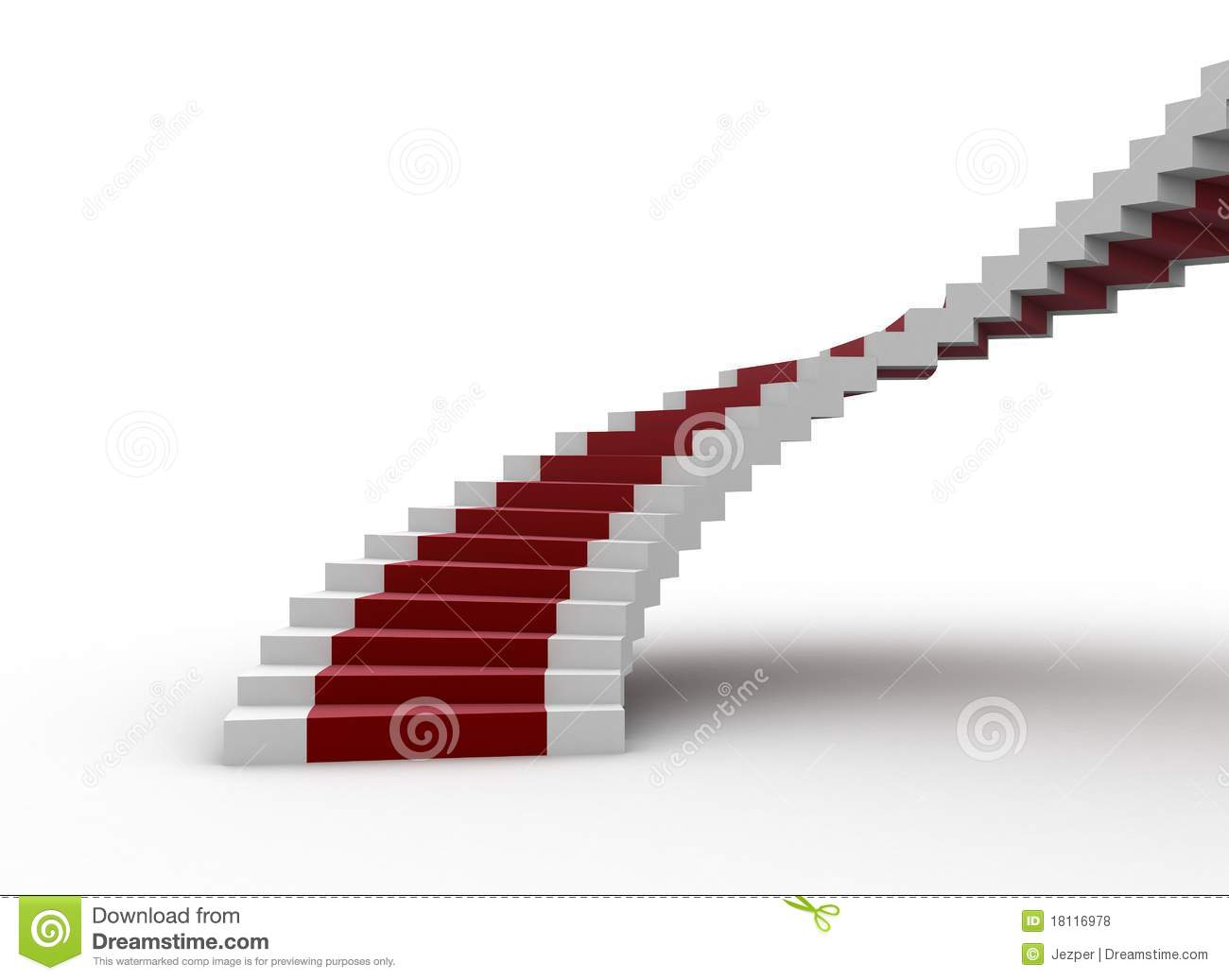Spiral Staircase With Red Carpet Royalty Free Stock Photos   Image