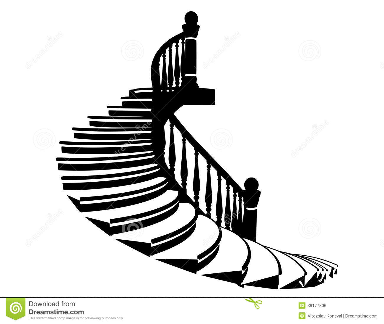Vector Silhouette Stairs Stock Vector   Image  39177306