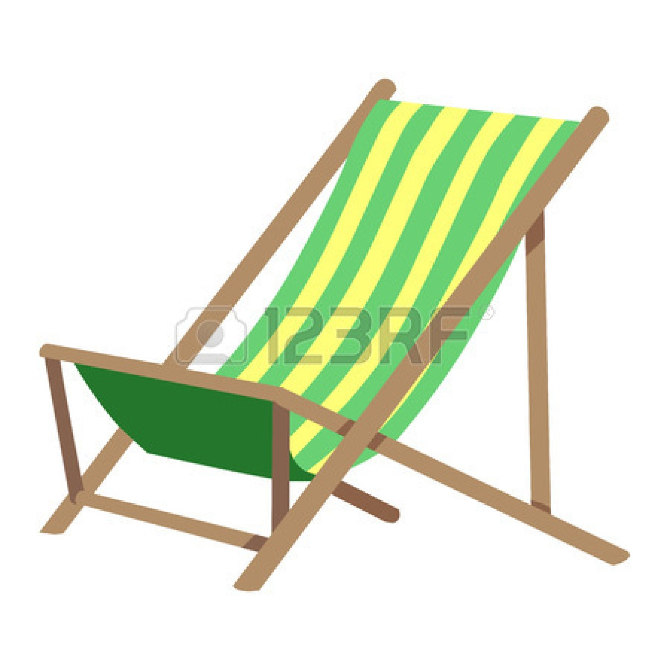 beach chair clipart black and white