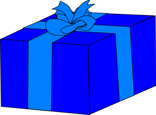 Blue Gift Box Clip Art At Clker Com   Vector Clip Art Online Royalty