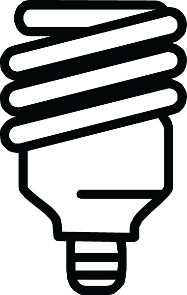 Cfl Fluorescent Light Bulb Clip Art For Custom Products