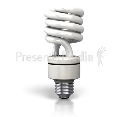 Cfl Light Bulb   Science And Technology   Great Clipart For