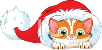 Christmas Kitten Clipart Cute Kitten Clipart