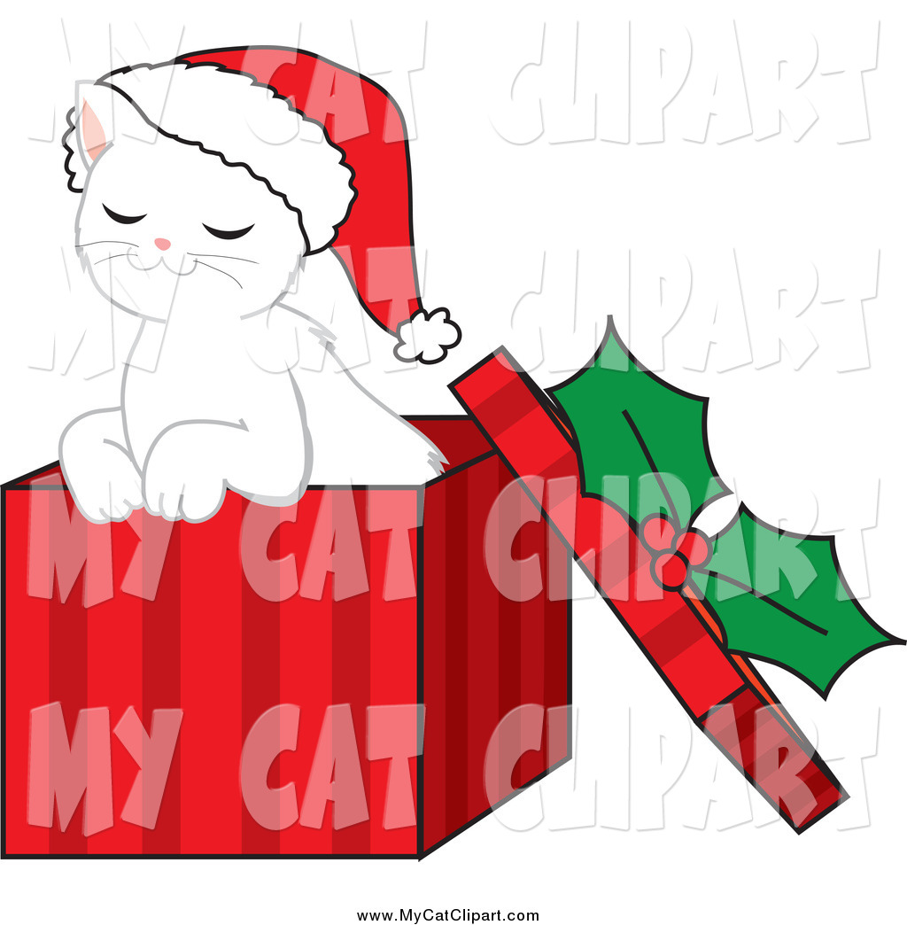 Christmas Kitten Clipart This Christmas Stock Cat Image