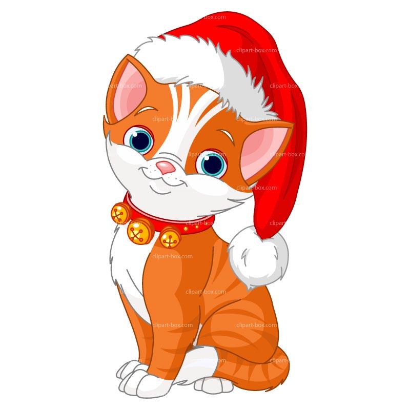 Christmas Cat Clipart - Clipart Kid