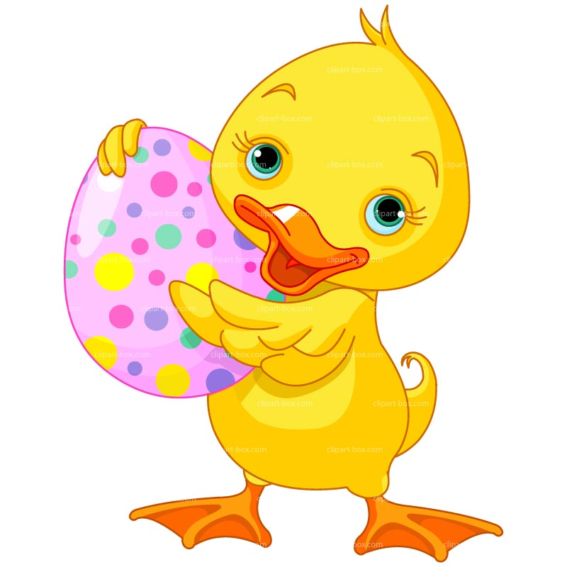 Clipart Easter Duck   Royalty Free Vector Design