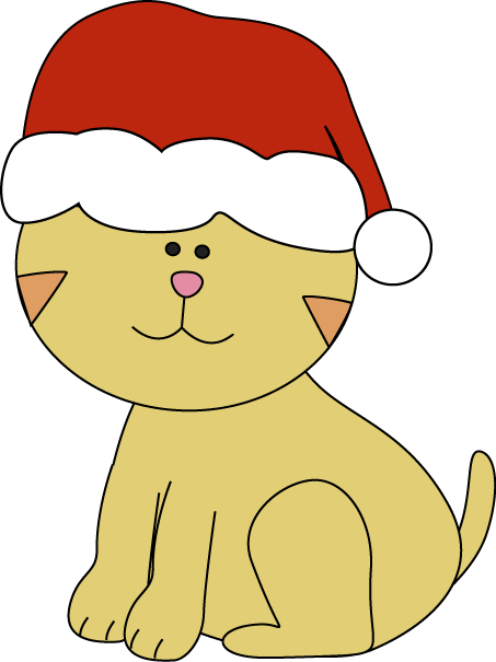 Cute Kitten Clipart Christmas Kitten Clip Art