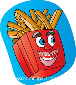 Fast Food Clipart   French Fry 711 02c   Classroom Clipart
