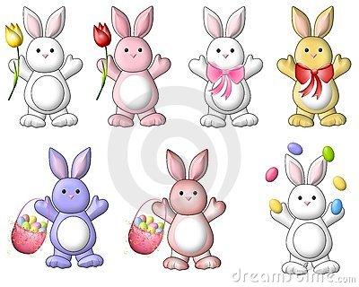 Cute Easter Bunny Clipart - Clipart Kid