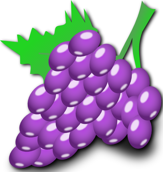 Cartoon Grapes grape cute clipart - clipart kid