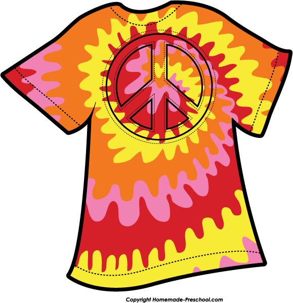 Home Free Clipart Peace Sign Clipart Tie Dye Peace Orange