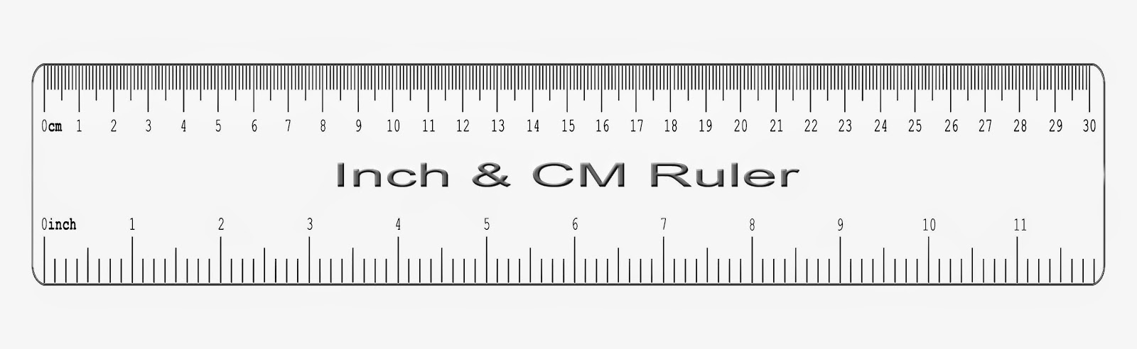 Inch Ruler With Cm Clipart Ruler Clipart
