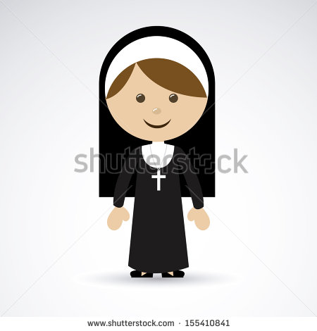 Nun Design Over Gray Background Vector Illustration   Stock Vector