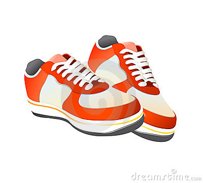 Tennis Shoes Dogs On Tennis Gym Shoes Vector Click