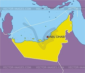 Uae Map   Vector Clipart